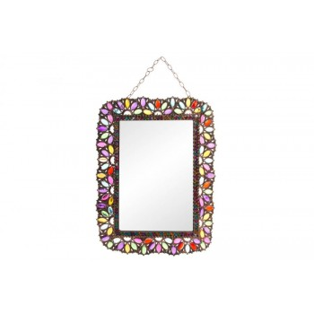 WALL MIRROR WITH GEM 50X63...